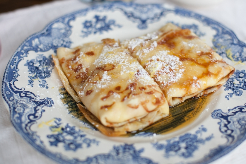 RICOTTA STUFFED CREPES WITH LEMON ZEST