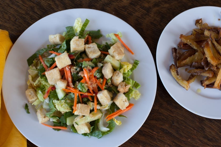 CHOPPED VIETNAMESE SALAD WITH FRIED TOFU - WITH LOVE