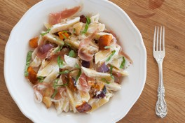 Penne with Roasted Butternut Squash, Proscuitto and Goat Cheese Recipe
