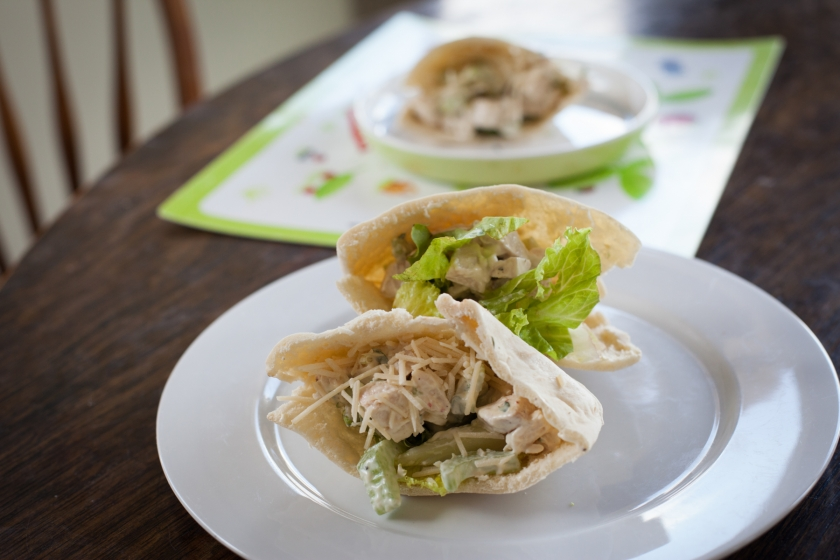 Simple Chicken Pita Sandwiches Recipe