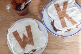 Espresso and Vanilla Ice Cream Cakes with Fudge and Oreo Crust Recipe