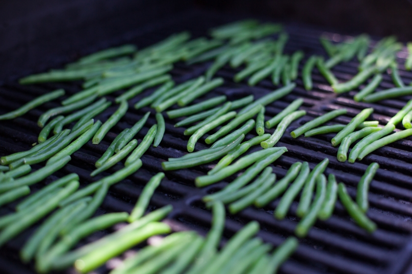 CHARRED GREEN BEANS WITH SESAME MISO DRESSING
