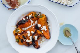 GRILLED SWEET PEPPERS WITH FETA AND HONEY