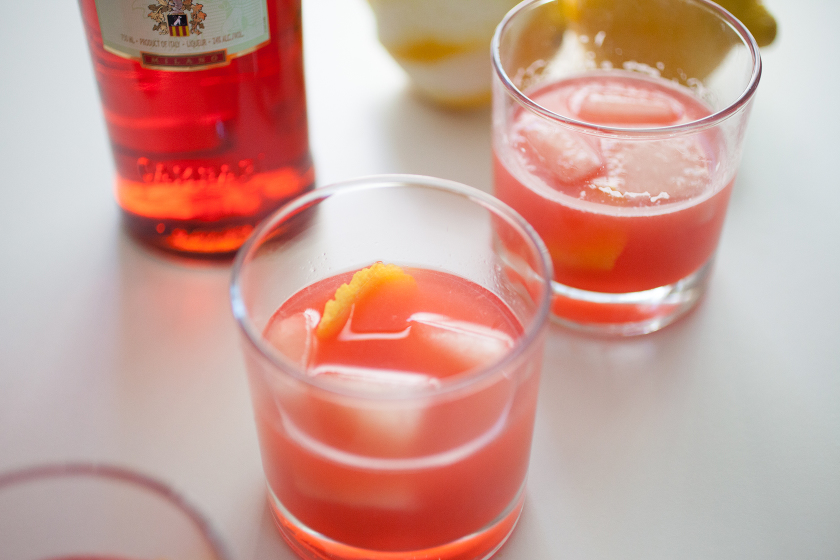 GIN, CAMPARI AND GRAPEFRUIT COCKTAIL - WITH LOVE