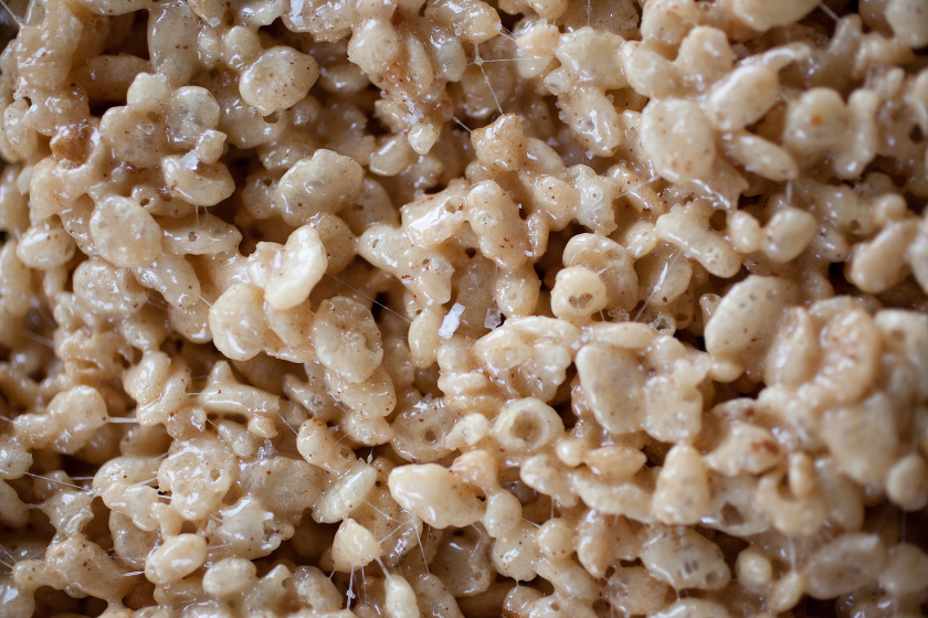 BROWN BUTTER ROASTED MARSHMALLOW SALTED RICE CRISPY TREATS