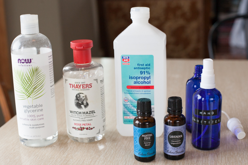 easy DIY hand sanitizer spray